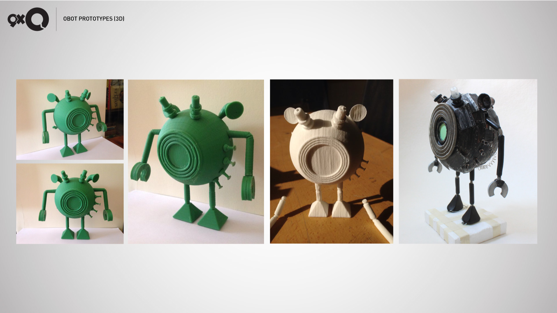 Obot 3D print tests and Model