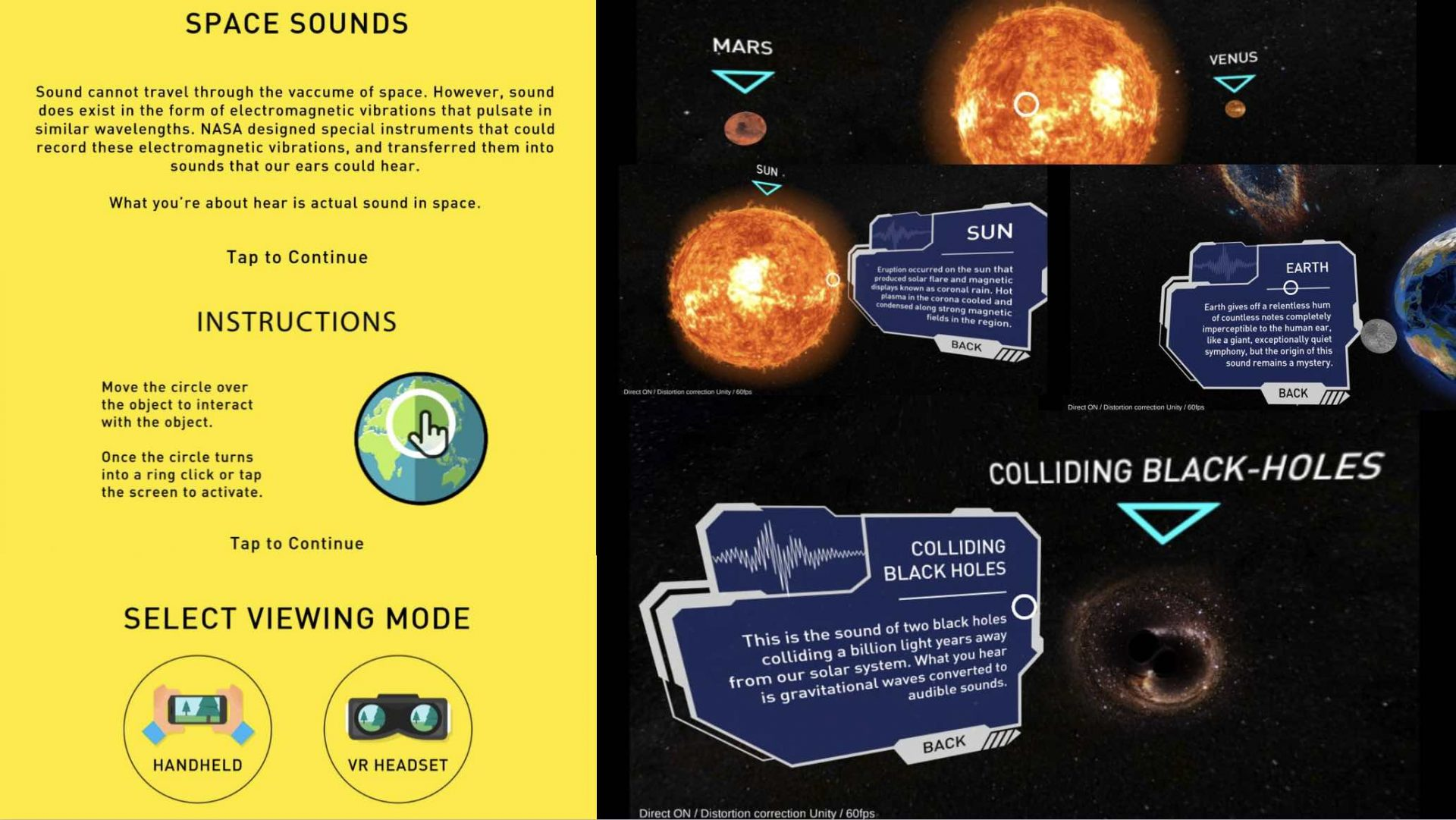 Space Sounds VR App