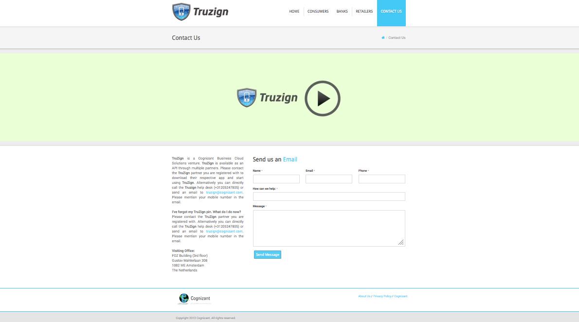 Truzign Website design