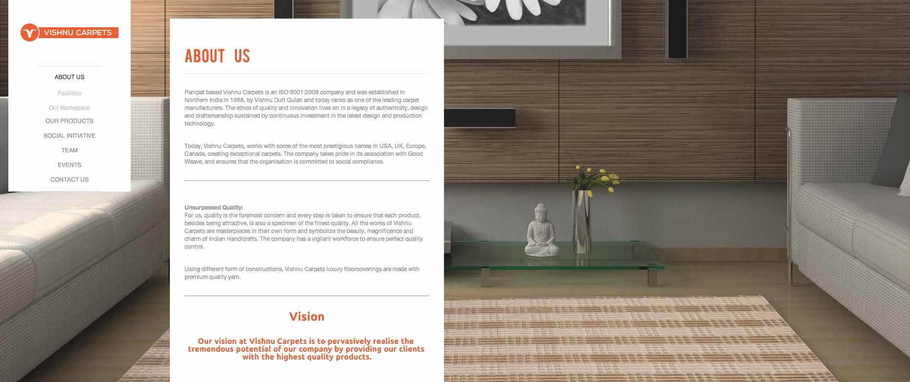 Vishnucarpets Web design