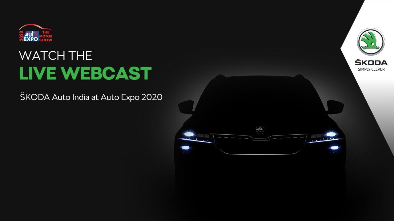 ŠKODA Auto India at Auto Expo 2020 – Webcast