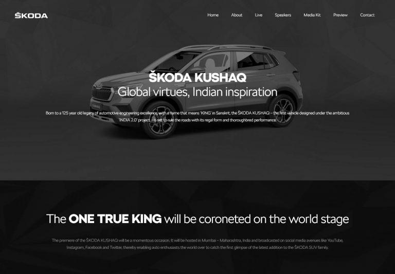ŠKODA KUSHAQ – Launch Website