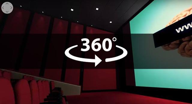 Cinema Theatre 360 3D 4K Render Check