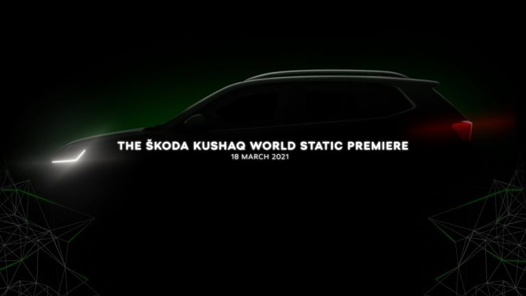 The ŠKODA KUSHAQ World Static Premiere